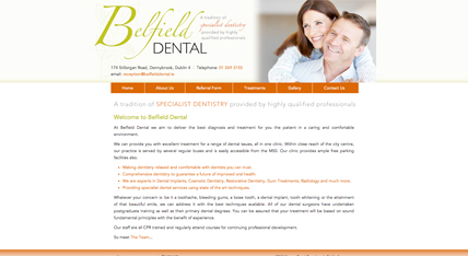 Belfield Dental Clinic Website
