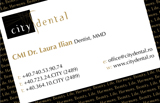 City Dental Romania Business Card