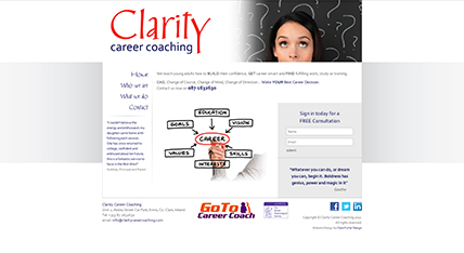 Clarity Career Coaching Website