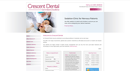 Crescent Dental Limerick Website
