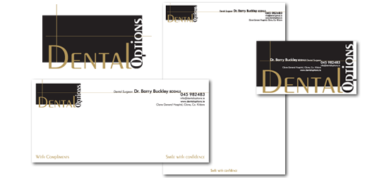 Dental Options | Logo | Business Card | Letterhead | Compliment Slip