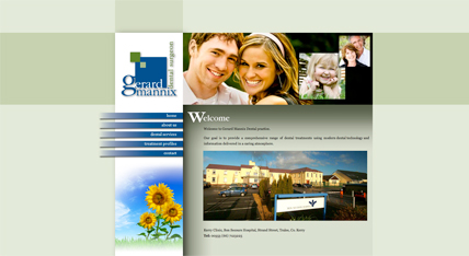 Gerard Mannix Dental Surgeon Website, Tralee