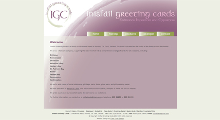 Inisfail Greeting Cards Website, Fermoy, Co. Cork