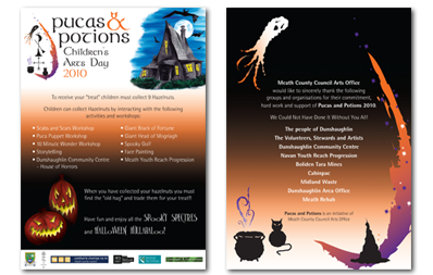Meath County Council | Pucas & Potions Children's Arts Day Leaflet