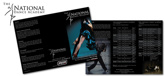 The National Dance Academy | Logo | Leaflet