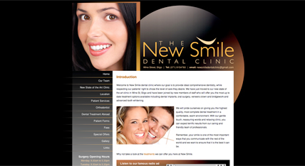 New Smile Dental Clinic Website, Sligo