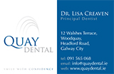 Quay Dental Galway Business Card