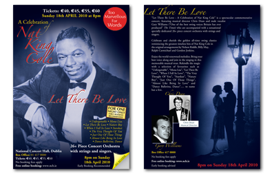 The National Concert Hall | Nat King Cole Concert Flyer