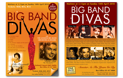 The National Concert Hall | Big Band Divas Concert Flyer