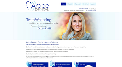 Ardee Dental website design