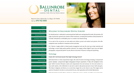 Ballinrobe Dental website design