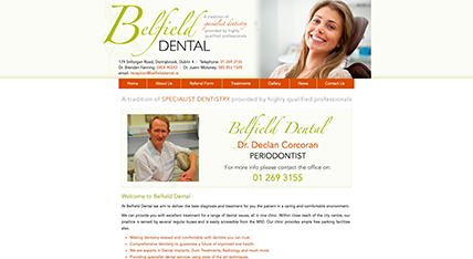 Belfield Dental Clinic website design