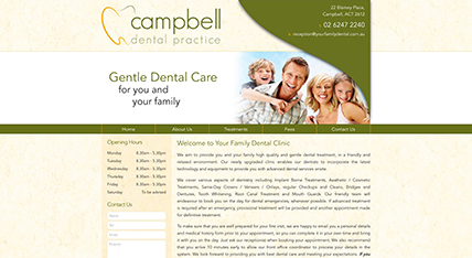 Campbell Dental website design