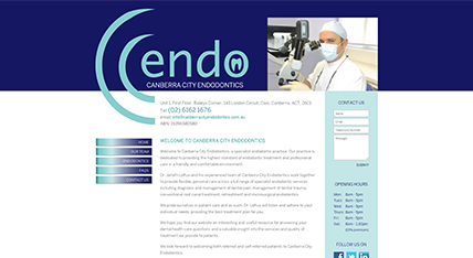 Canberra City Endodontics website design