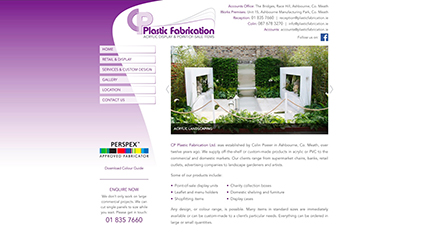 CP Plastic Fabrication website design