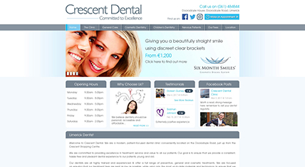 Crescent Dental Limerick website design