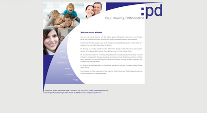 Paul Dowling Orthodontist website design