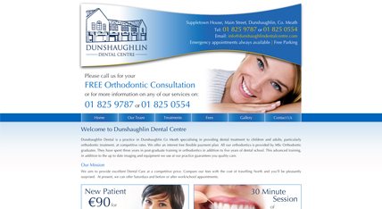 Dunshaughlin Dental Centre website design