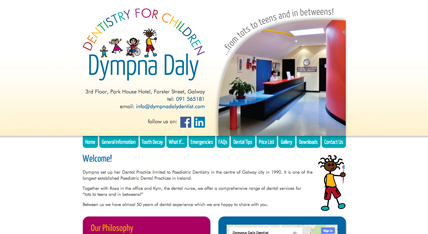 Dympna Daly Dentist website design