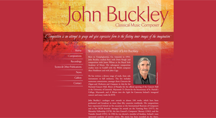 John Buckley Composer website design