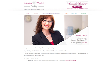 Karen Willis Coaching website design