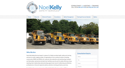 Noel Kelly Safety Services website design