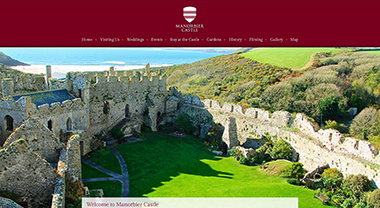 Manorbier Castle website design