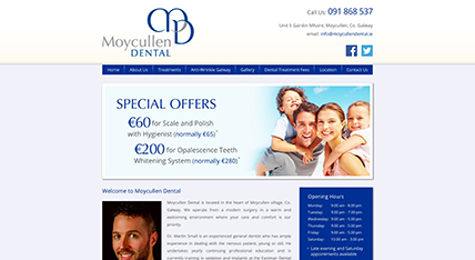 Moycullen Dental website design