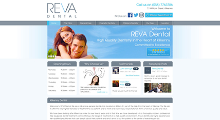Reva Dental Kilkenny website design