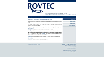 Rovtec Systems website design
