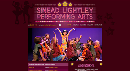 Sinead Lightley Performing Arts website design