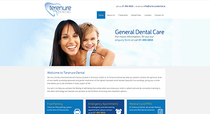 Terenure Dental website design