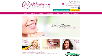 Woodstown Dental website design